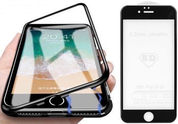 Etui 360 MAGNETIC iPhone 7 / 8 czarny +szkło 5D