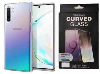 Etui Spigen LIQUID Crystal Samsung GALAXY NOTE 10 przezroczysty +szkło UV
