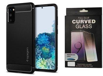 Etui pancerne SPIGEN RUGGED ARMOR Samsung Galaxy S20 MATTE BLACK +szkło UV
