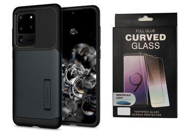 Etui pancerne SPIGEN SLIM ARMOR Samsung Galaxy S20 ULTRA METAL SLATE +szkło UV