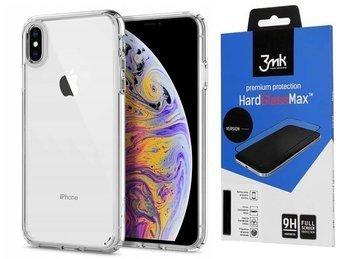 SPIGEN ULTRA HYBRID IPHONE XS MAX CRYSTAL CLEAR +szkło 3MK HG Lite