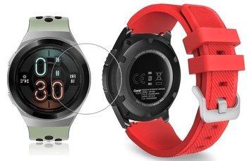 TECH-PROTECT SOFT opaska pasek bransoleta BAND Huawei Watch GT 2e 46mm RED +szkło