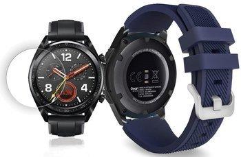 TECH-PROTECT SOFT opaska pasek bransoleta BAND Huawei Watch GT Classic/Sport/Active 46mm MIDNIGHT BLUE +szkło