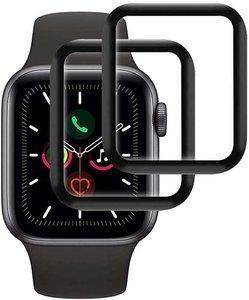 ZESTAW 2X Szkło hybrodowe FULL GLUE 5D Apple Watch 4 / 5 44mm czarny