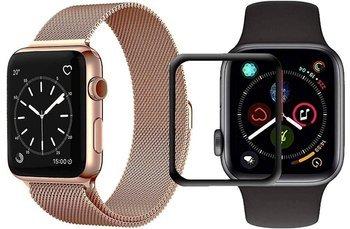 opaska pasek bransoleta MILANESEBAND Apple Watch 4/5 44MM ROSE GOLD +szkło 5D