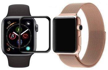 opaska pasek bransoleta MILANESEBAND Apple Watch 4/5/6/SE 44mm VINTAGE GOLD +szkło 5D