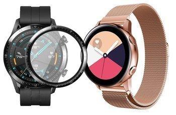 opaska pasek bransoleta MILANESEBAND Huawei Watch GT 2 46MM ROSE GOLD +szkło 3D