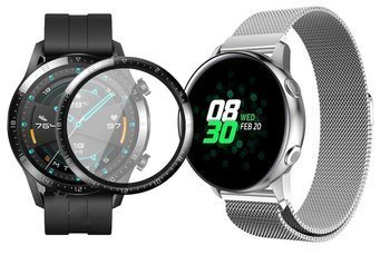 opaska pasek bransoleta MILANESEBAND Huawei Watch GT 2 46MM SILVER +szkło 3D