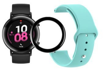 opaska pasek bransoleta SMOOTHBAND Huawei Watch GT 2 42MM miętowa + szkło 5D