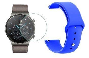 opaska pasek bransoleta SMOOTHBAND Huawei Watch GT 2 PRO 46mm niebieski +szkło hartowane na ekran