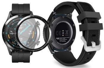 opaska pasek bransoleta SOFTBAND Huawei Watch GT 2 46MM BLACK +szkło 3D