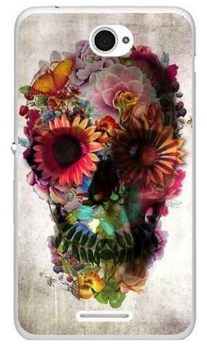 czaszka kwiaty