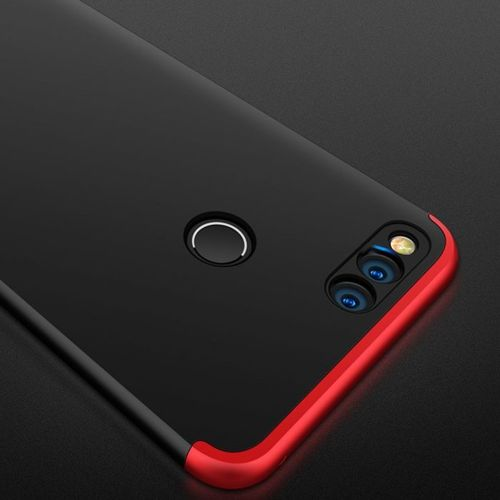 360 Protection etui na całą obudowę przód + tył Huawei Honor 7X czarno-czerwony
