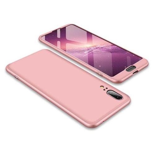 360 Protection etui na całą obudowę przód + tył Huawei P20 różowy