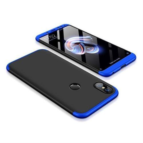 360 Protection etui na całą obudowę przód + tył Xiaomi Redmi Note 5 (dual camera) / Redmi Note 5 Pro czarno-niebieski