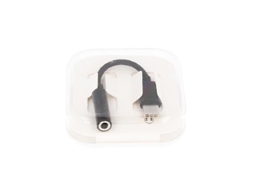 ADAPTER HF/AUDIO TYPC JACK 3,5MM BOX  CZARNY