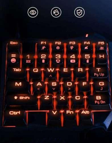Baseus Gamo podświetlana mechaniczna klawiatura dla graczy gamingowa czarny (GMGK01-01)