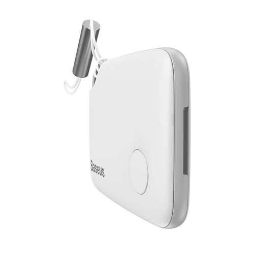 Baseus T2 brelok mini bezprzewodowy lokalizator do kluczy i innych przedmiotów biały (ZLFDQT2-02)