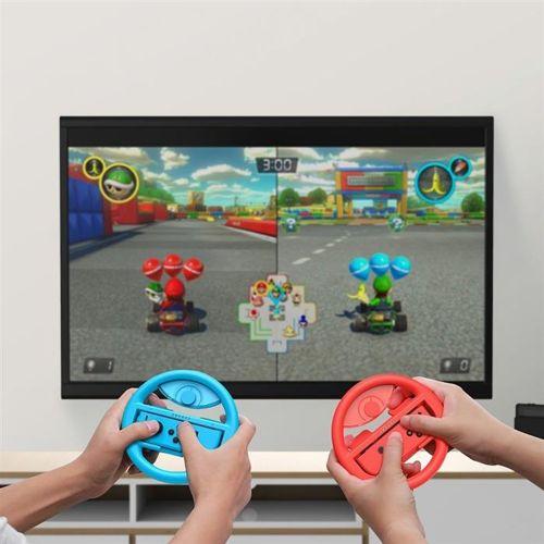 Baseus zestaw 2x kierownica do Nintendo Switch nakładka na Joy-Con joystick pad czerwony i niebieski (GMSWB-93)