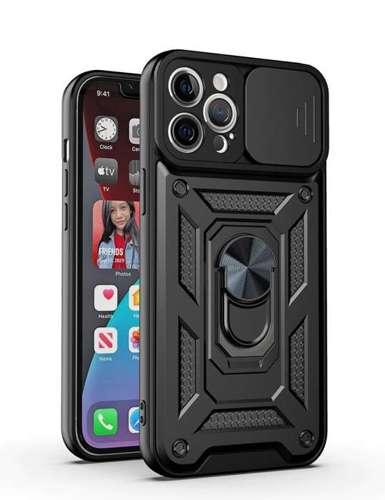 CAM SLIDER RING pancerne hybrydowe etui pokrowiec + magnetyczny uchwyt + ochrona aparatu Xiaomi Redmi NOTE 10 5G / Poco M3 PRO czarny