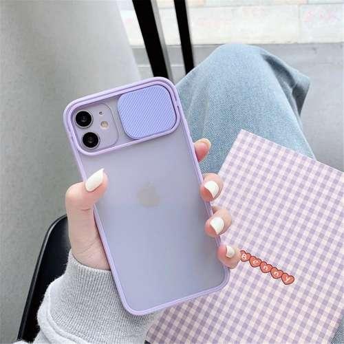 CAMSLIDER silikonowe etui pokrowiec iPhone 11 PRO pudrowy