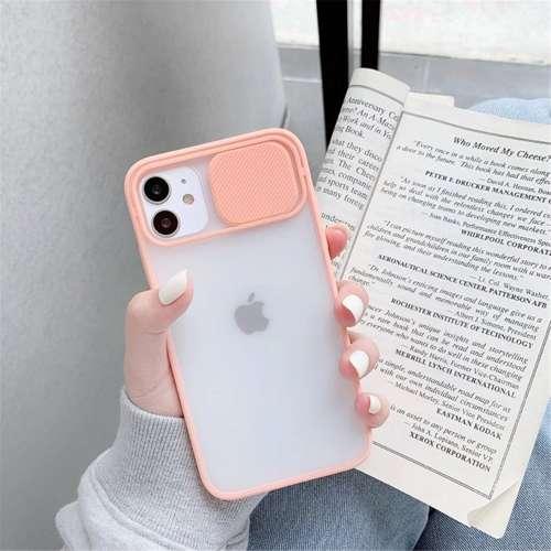 CAMSLIDER silikonowe etui pokrowiec iPhone 12 PRO MAX czarny