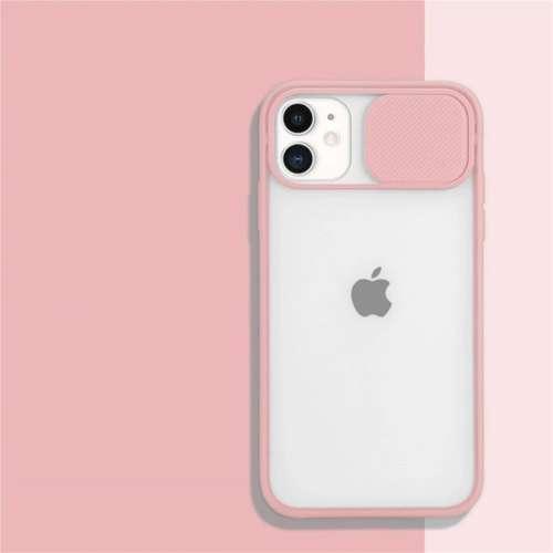 CAMSLIDER silikonowe etui pokrowiec iPhone 12 PRO MAX pudrowy