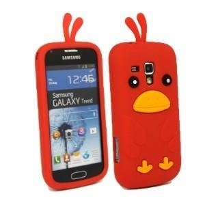 CHICKEN Samsung Galaxy TREND czerwony