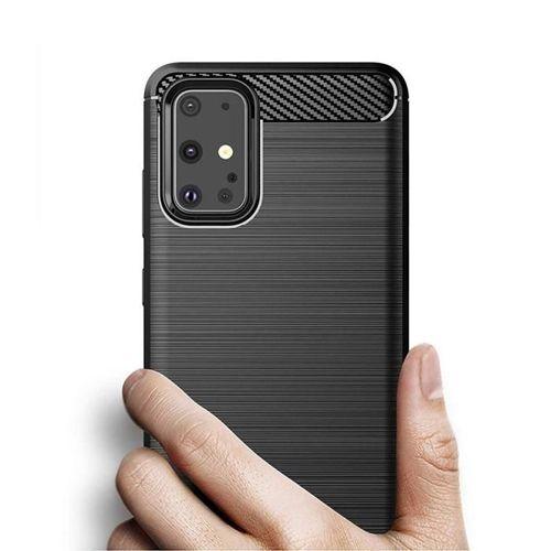Carbon Case elastyczne etui pokrowiec Samsung Galaxy S20 Plus niebieski