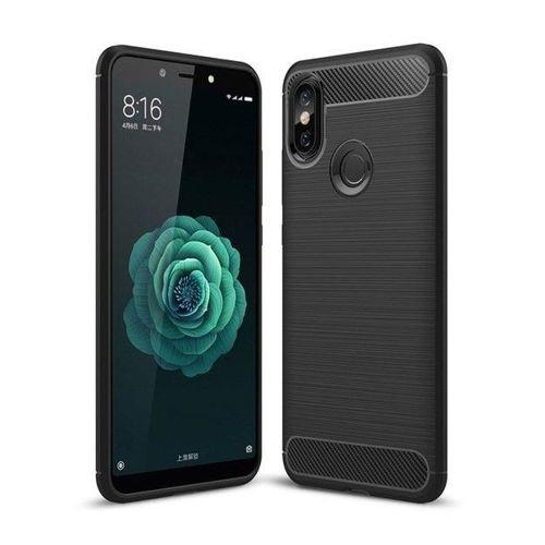 Carbon Case elastyczne etui pokrowiec Xiaomi Mi A2 / Mi 6X czarny