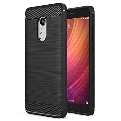 Carbon Case elastyczne etui pokrowiec Xiaomi Redmi Note 4 (MediaTek) czarny