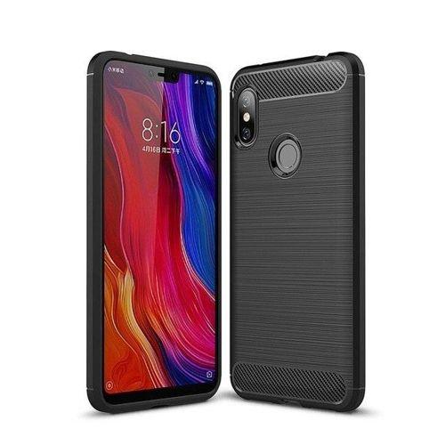 Carbon Case elastyczne etui pokrowiec Xiaomi Redmi Note 6 Pro czarny
