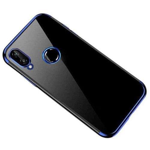 Clear Color case żelowy pokrowiec etui z metaliczną ramką Huawei P Smart 2019 niebieski