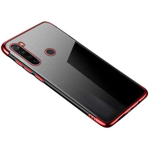 Clear Color case żelowy pokrowiec etui z metaliczną ramką Huawei P40 czerwony