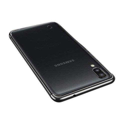 Clear Color case żelowy pokrowiec etui z metaliczną ramką Samsung Galaxy A10 czarny