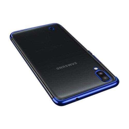Clear Color case żelowy pokrowiec etui z metaliczną ramką Samsung Galaxy A10 niebieski