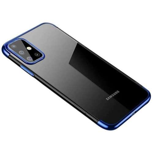 Clear Color case żelowy pokrowiec etui z metaliczną ramką Samsung Galaxy A71 niebieski