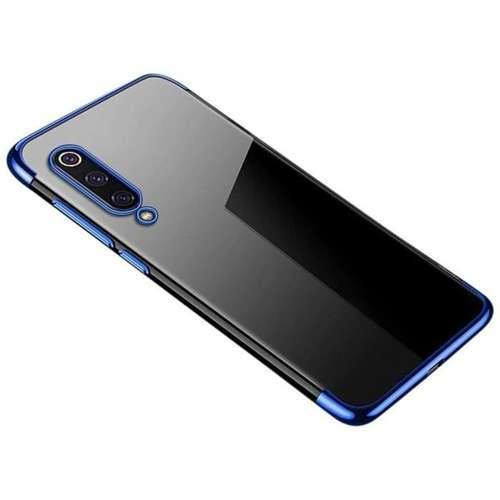 Clear Color case żelowy pokrowiec etui z metaliczną ramką Xiaomi Mi 9 Lite / Xiaomi Mi CC9 niebieski
