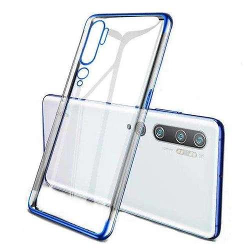 Clear Color case żelowy pokrowiec etui z metaliczną ramką Xiaomi Mi Note 10 / Mi Note 10 Pro / Mi CC9 Pro niebieski