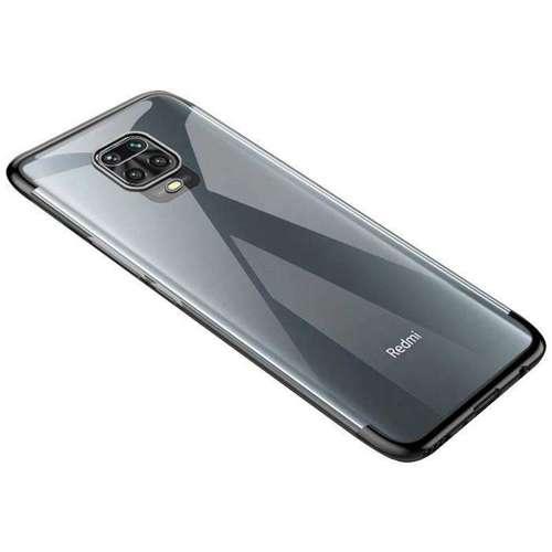 Clear Color case żelowy pokrowiec etui z metaliczną ramką Xiaomi Redmi 10X 4G / Xiaomi Redmi Note 9 czarny