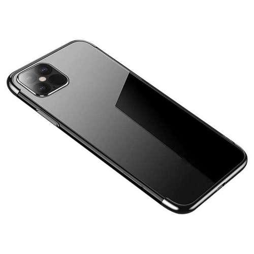 Clear Color case żelowy pokrowiec etui z metaliczną ramką iPhone 12 mini czarny