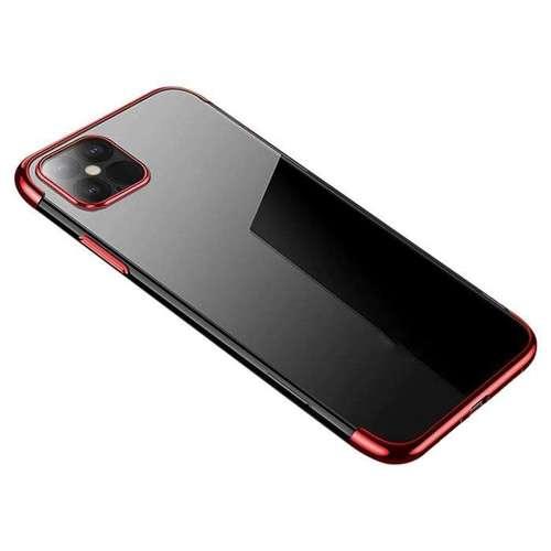 Clear Color case żelowy pokrowiec etui z metaliczną ramką iPhone 12 mini czerwony