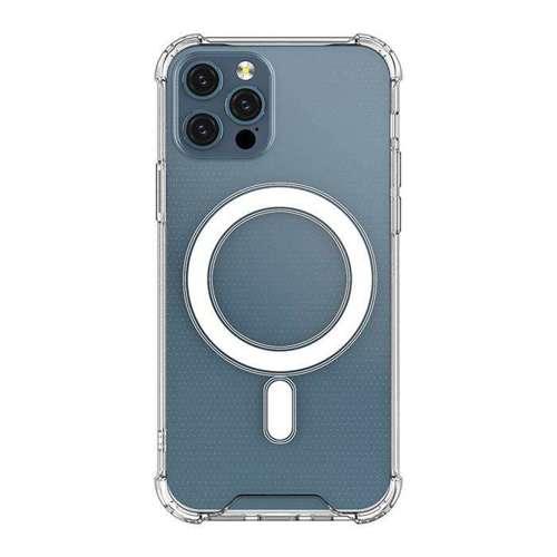 Clear Magnetic Case MagSafe pancerne żelowe elastyczne etui do iPhone 12 mini przezroczysty