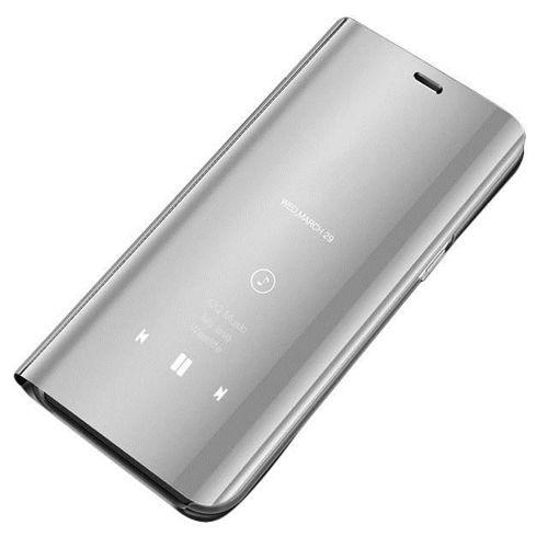 Clear View Case futerał etui z klapką Huawei Mate 20 Lite srebrny