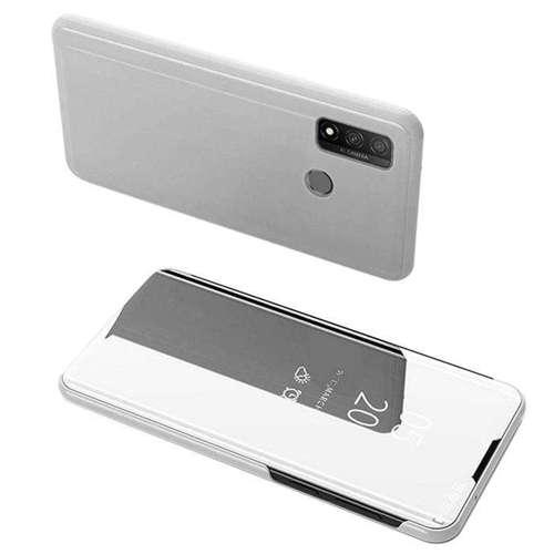Clear View Case futerał etui z klapką Huawei P Smart 2020 srebrny