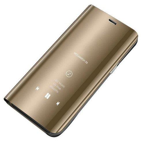 Clear View Case futerał etui z klapką Huawei P20 Lite złoty