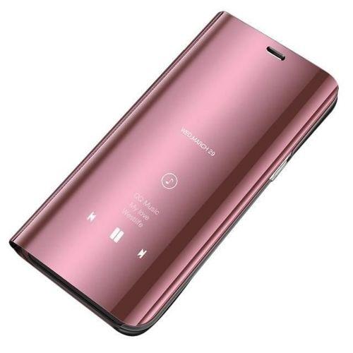 Clear View Case futerał etui z klapką Huawei P30 Pro różowy