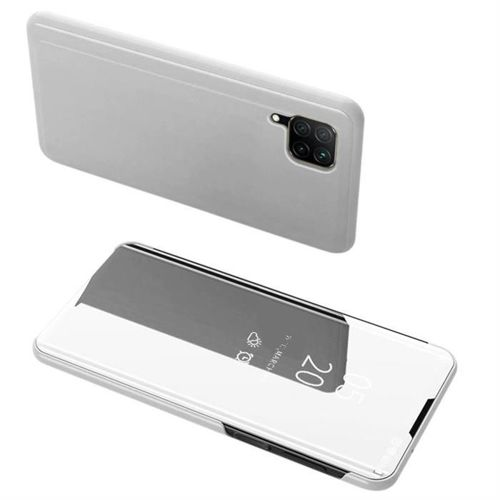 Clear View Case futerał etui z klapką Huawei P40 Lite / Nova 7i / Nova 6 SE srebrny