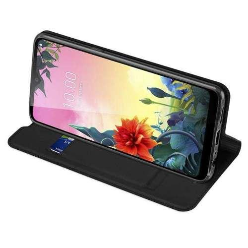DUX DUCIS Skin Pro kabura etui pokrowiec z klapką LG K50S czarny