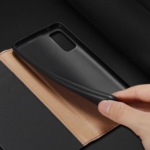 DUX DUCIS Wish skórzane etui pokrowiec ze skóry naturalnej Samsung Galaxy S20 czarny